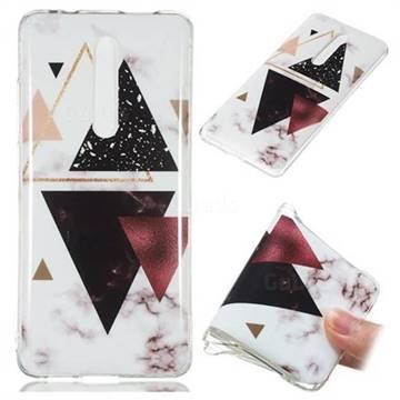 Four Triangular Soft TPU Marble Pattern Phone Case for Xiaomi Redmi K20 Pro