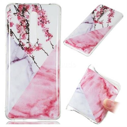 Pink Plum Soft TPU Marble Pattern Case for Xiaomi Redmi K20 Pro