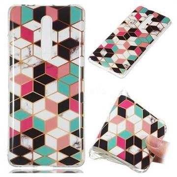 Three-dimensional Square Soft TPU Marble Pattern Phone Case for Xiaomi Redmi K20 Pro