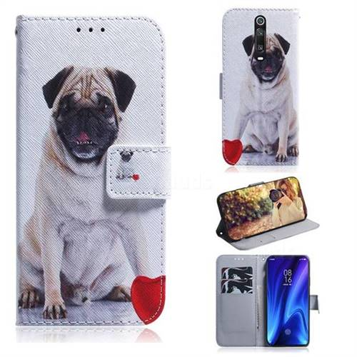Pug Dog PU Leather Wallet Case for Xiaomi Redmi K20 Pro