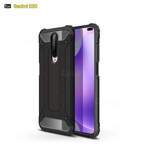 King Kong Armor Premium Shockproof Dual Layer Rugged Hard Cover for Xiaomi Redmi K30 - Black Gold
