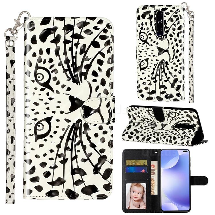 Leopard Panther 3D Leather Phone Holster Wallet Case for Xiaomi Redmi K30
