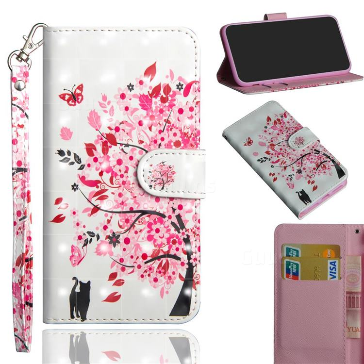 Tree and Cat 3D Painted Leather Wallet Case for Xiaomi Redmi K30 Pro