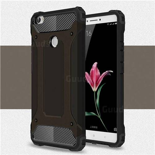 King Kong Armor Premium Shockproof Dual Layer Rugged Hard Cover for Xiaomi Mi Max - Black Gold