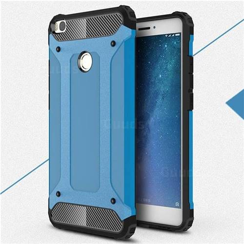 King Kong Armor Premium Shockproof Dual Layer Rugged Hard Cover for Xiaomi Mi Max 2 - Sky Blue