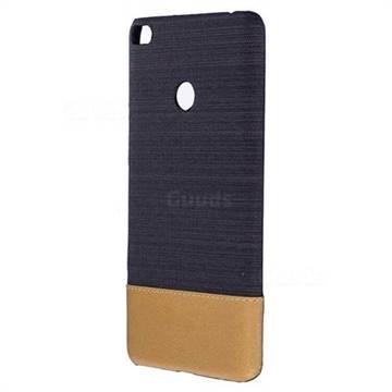 Canvas Cloth Coated Plastic Back Cover for Xiaomi Mi Max 2 - Black