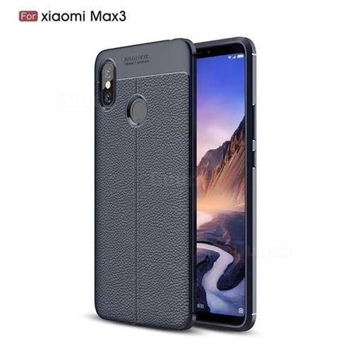low priced 7dd31 faa64 Luxury Auto Focus Litchi Texture Silicone TPU Back Cover for Xiaomi Mi Max  3 - Black - Xiaomi Mi Max 3 Cases - Guuds