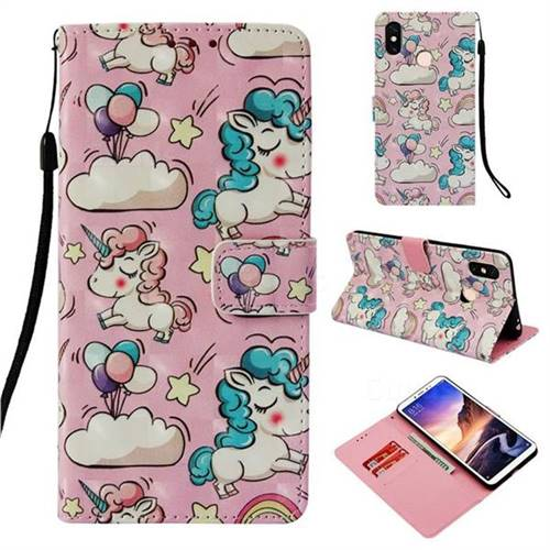 Angel Pony 3D Painted Leather Wallet Case for Xiaomi Mi Max 3