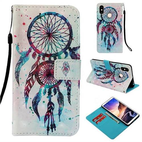 ColorDrops Wind Chimes 3D Painted Leather Wallet Case for Xiaomi Mi Max 3