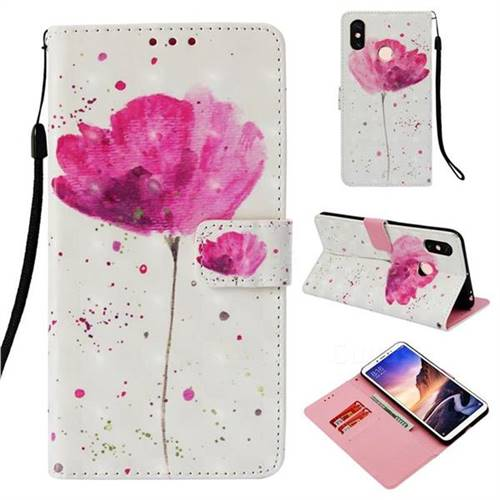 Watercolor 3D Painted Leather Wallet Case for Xiaomi Mi Max 3