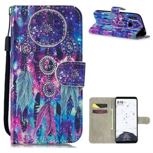Star Wind Chimes 3D Painted Leather Wallet Phone Case for Xiaomi Mi Max 3