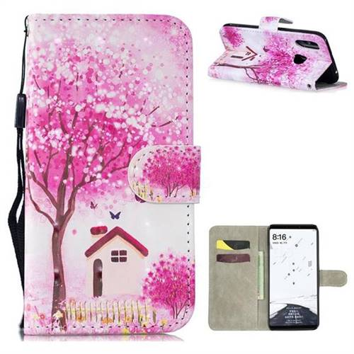 Tree House 3D Painted Leather Wallet Phone Case for Xiaomi Mi Max 3