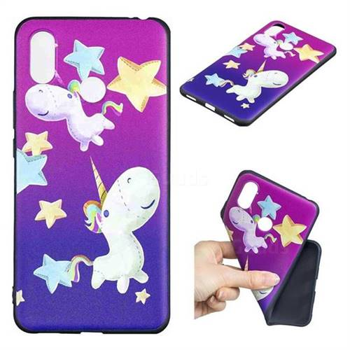 Pony 3D Embossed Relief Black TPU Cell Phone Back Cover for Xiaomi Mi Max 3 Pro