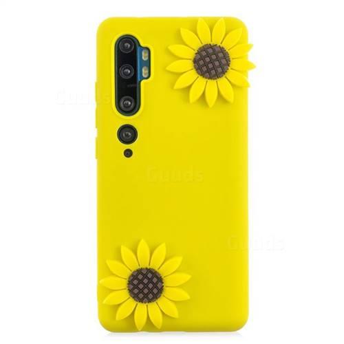 Yellow Sunflower Soft 3D Silicone Case for Xiaomi Mi Note 10 / Note 10 Pro / CC9 Pro
