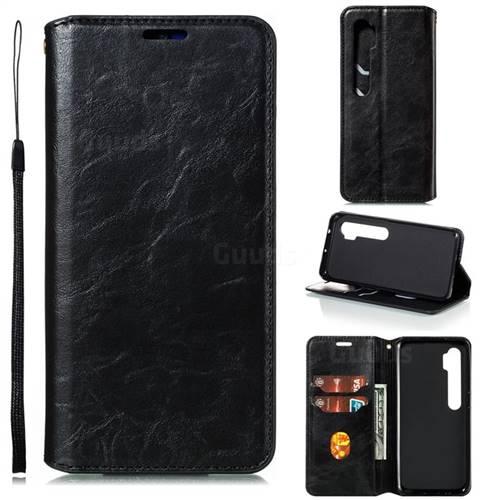 Retro Slim Magnetic Crazy Horse PU Leather Wallet Case for Xiaomi Mi Note 10 / Note 10 Pro / CC9 Pro - Black