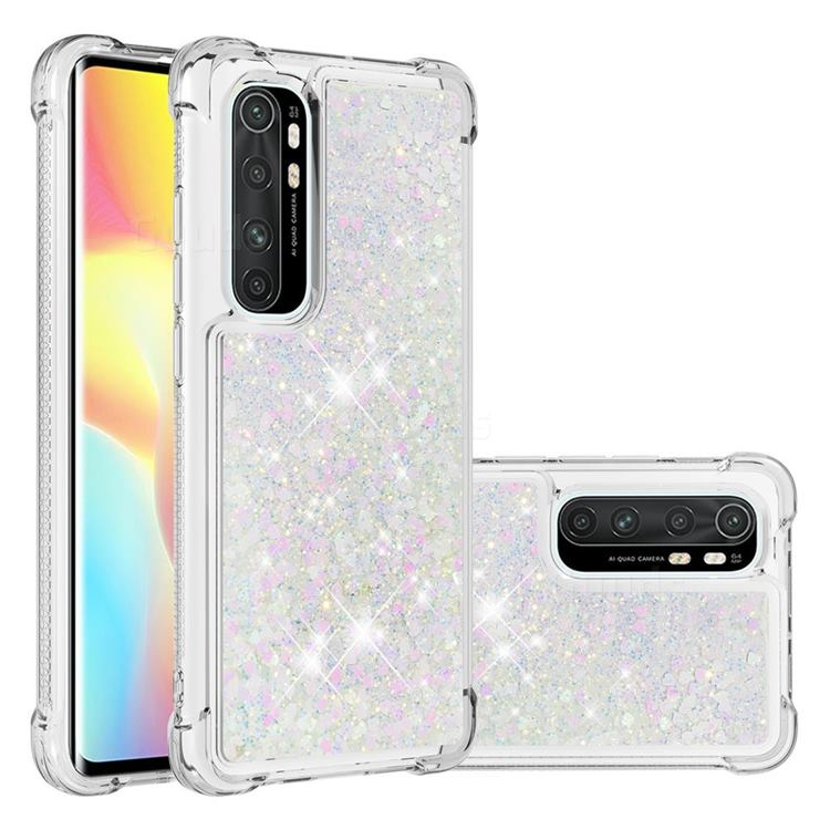 Dynamic Liquid Glitter Sand Quicksand Star TPU Case for Xiaomi Mi Note 10 Lite - Pink