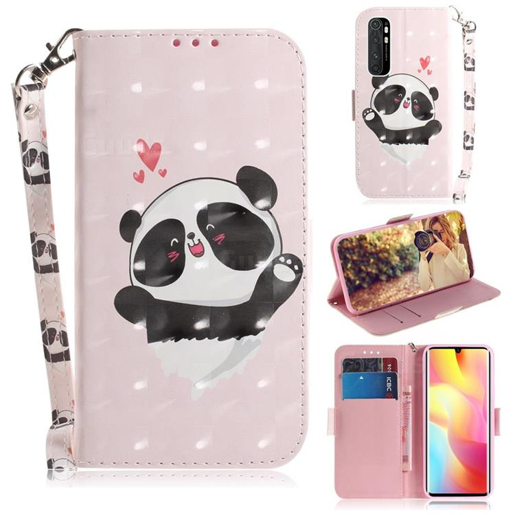 Heart Cat 3D Painted Leather Wallet Phone Case for Xiaomi Mi Note 10 Lite
