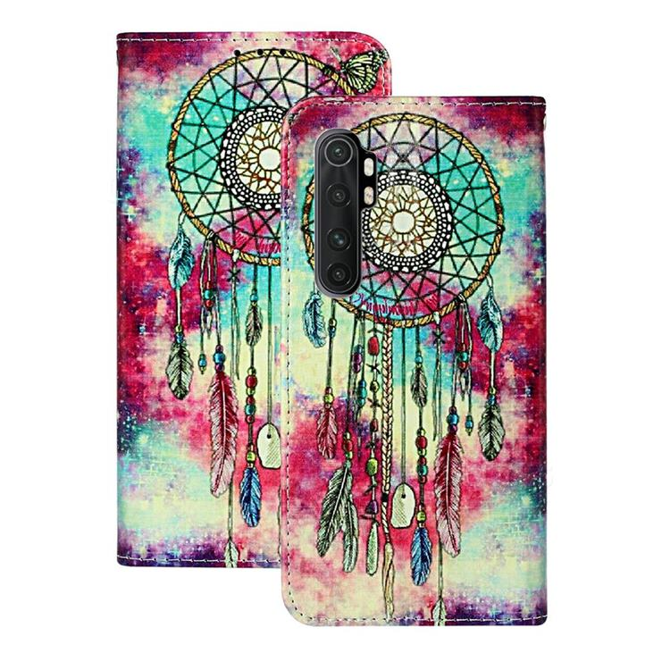 Butterfly Chimes PU Leather Wallet Case for Xiaomi Mi Note 10 Lite