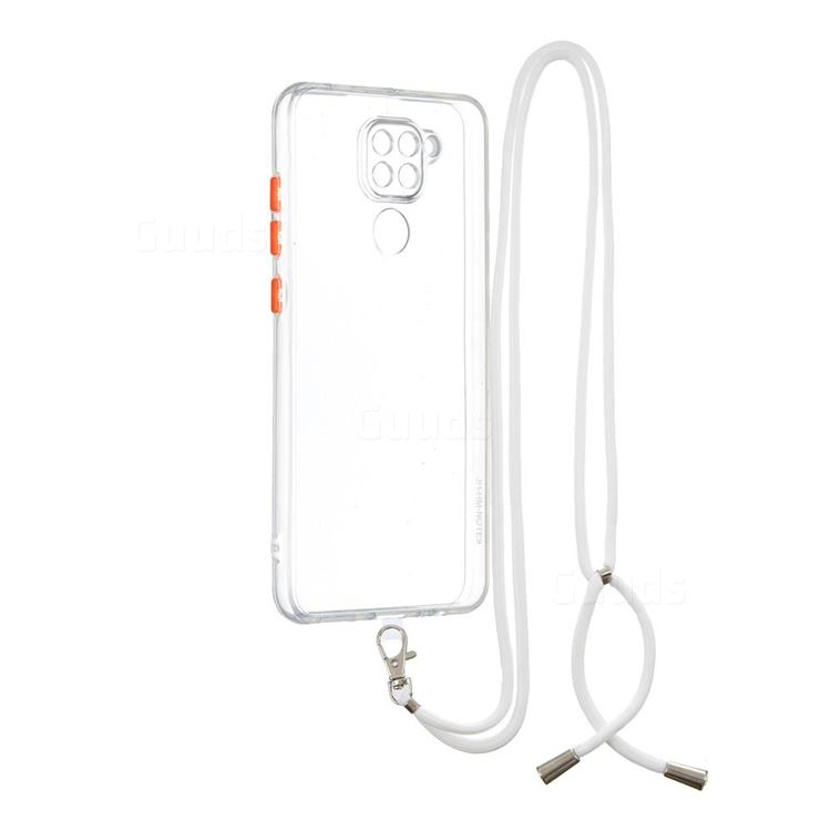 Necklace Cross-body Lanyard Strap Cord Phone Case Cover for Xiaomi Redmi Note 9 - Transparent