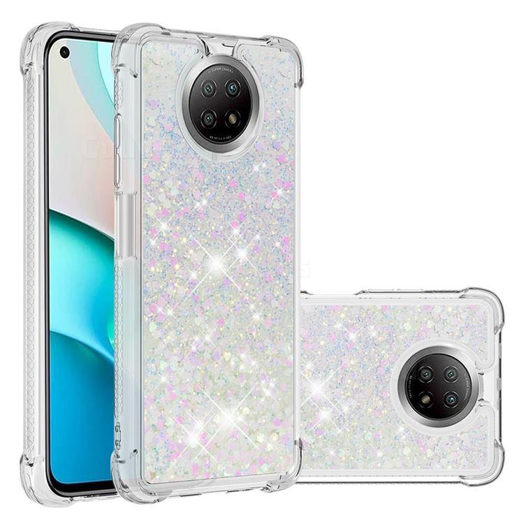 Dynamic Liquid Glitter Sand Quicksand Star TPU Case for Xiaomi Redmi Note 9 5G - Pink