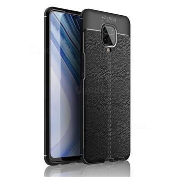 Luxury Auto Focus Litchi Texture Silicone TPU Back Cover for Xiaomi Redmi Note 9s / Note9 Pro / Note 9 Pro Max - Black