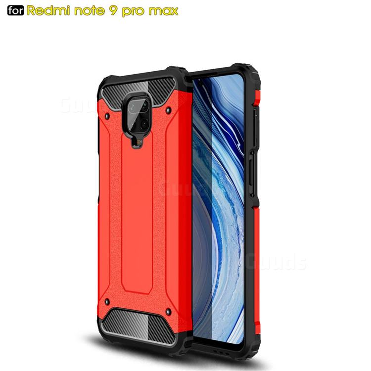 King Kong Armor Premium Shockproof Dual Layer Rugged Hard Cover for Xiaomi Redmi Note 9s / Note9 Pro / Note 9 Pro Max - Big Red