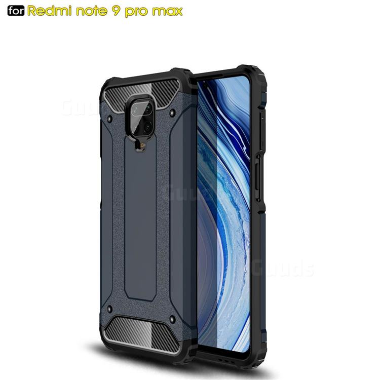 King Kong Armor Premium Shockproof Dual Layer Rugged Hard Cover for Xiaomi Redmi Note 9s / Note9 Pro / Note 9 Pro Max - Navy