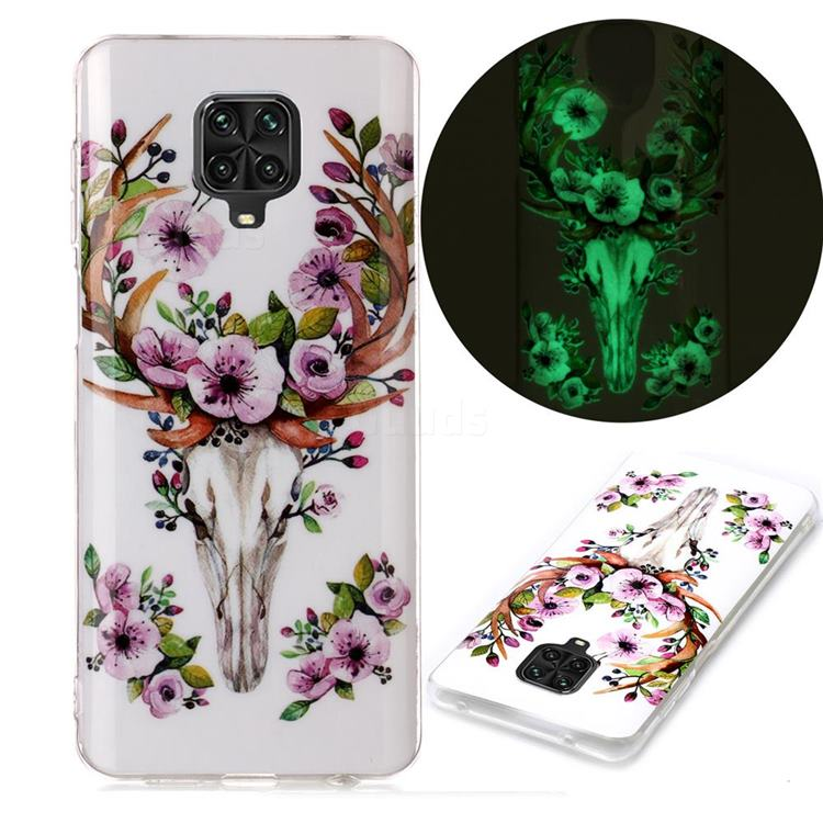 Sika Deer Noctilucent Soft TPU Back Cover for Xiaomi Redmi Note 9s / Note9 Pro / Note 9 Pro Max