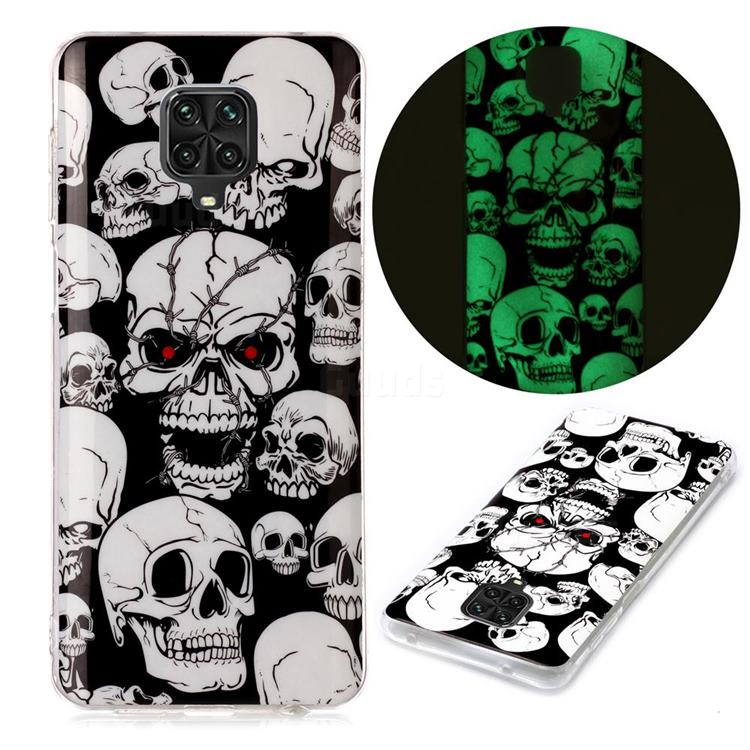 Red-eye Ghost Skull Noctilucent Soft TPU Back Cover for Xiaomi Redmi Note 9s / Note9 Pro / Note 9 Pro Max