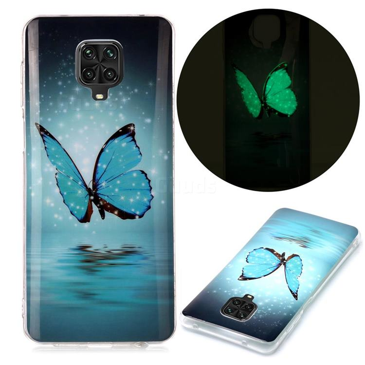 Butterfly Noctilucent Soft TPU Back Cover for Xiaomi Redmi Note 9s / Note9 Pro / Note 9 Pro Max