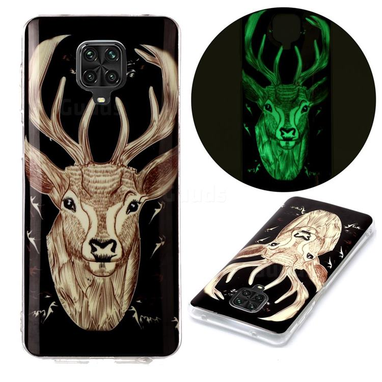 Fly Deer Noctilucent Soft TPU Back Cover for Xiaomi Redmi Note 9s / Note9 Pro / Note 9 Pro Max