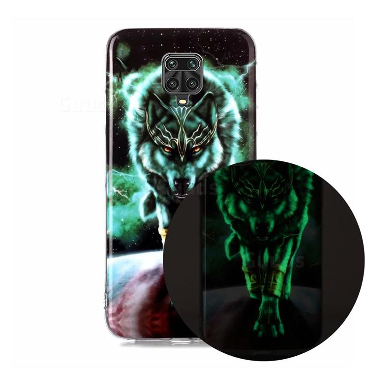 Wolf King Noctilucent Soft TPU Back Cover for Xiaomi Redmi Note 9s / Note9 Pro / Note 9 Pro Max