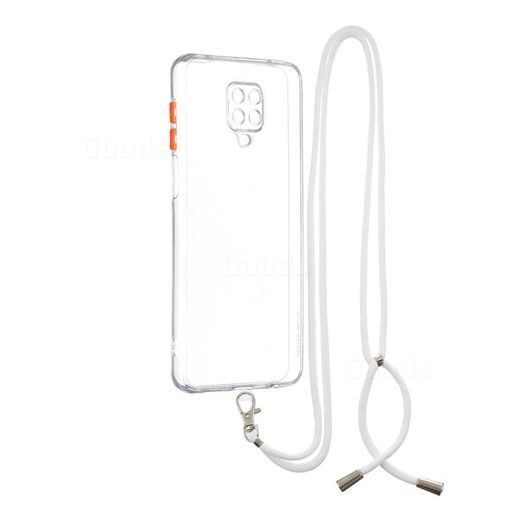 Necklace Cross-body Lanyard Strap Cord Phone Case Cover for Xiaomi Redmi Note 9s / Note9 Pro / Note 9 Pro Max - Transparent