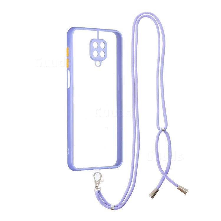 Necklace Cross-body Lanyard Strap Cord Phone Case Cover for Xiaomi Redmi Note 9s / Note9 Pro / Note 9 Pro Max - Purple