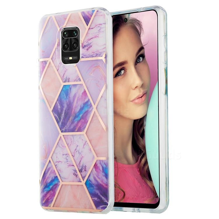 Purple Dream Marble Pattern Galvanized Electroplating Protective Case Cover for Xiaomi Redmi Note 9s / Note9 Pro / Note 9 Pro Max