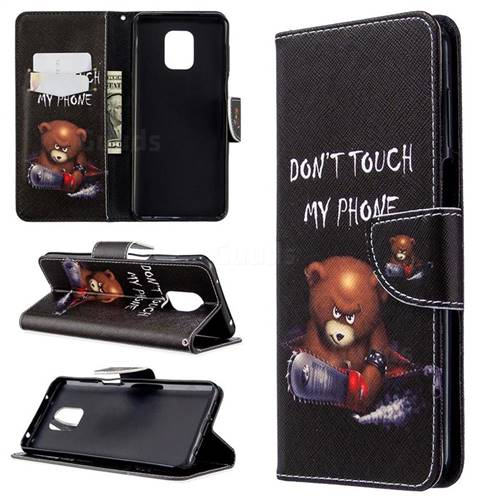Chainsaw Bear Leather Wallet Case for Xiaomi Redmi Note 9s / Note9 Pro / Note 9 Pro Max