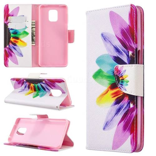 Seven-color Flowers Leather Wallet Case for Xiaomi Redmi Note 9s / Note9 Pro / Note 9 Pro Max