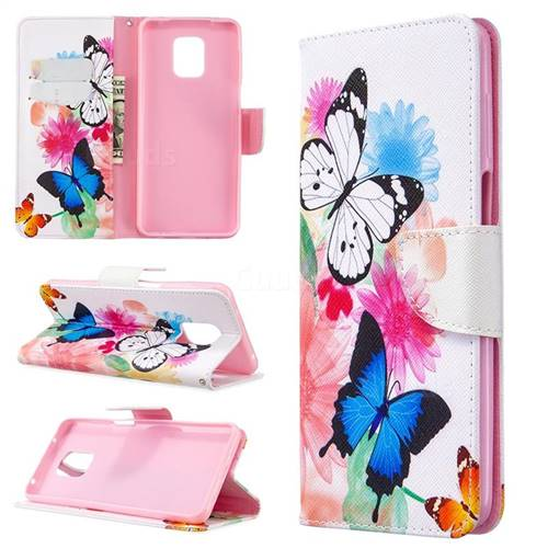Vivid Flying Butterflies Leather Wallet Case for Xiaomi Redmi Note 9s / Note9 Pro / Note 9 Pro Max