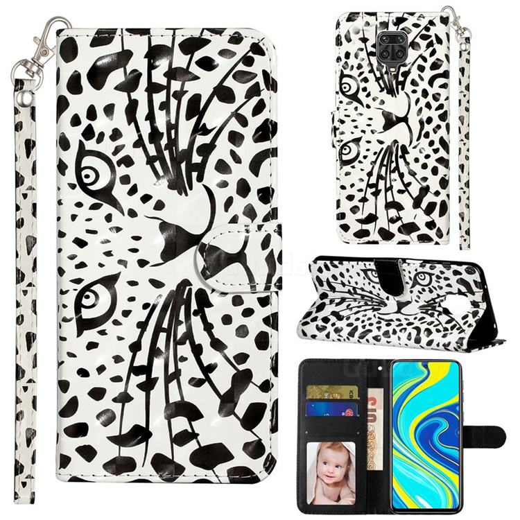 Leopard Panther 3D Leather Phone Holster Wallet Case for Xiaomi Redmi Note 9s / Note9 Pro / Note 9 Pro Max