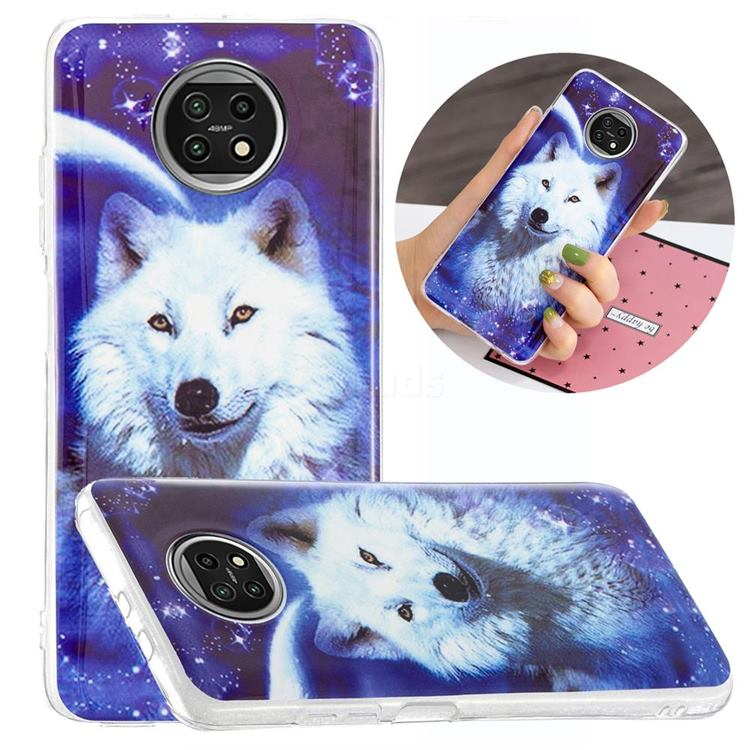 Galaxy Wolf Noctilucent Soft TPU Back Cover for Xiaomi Redmi Note 9T