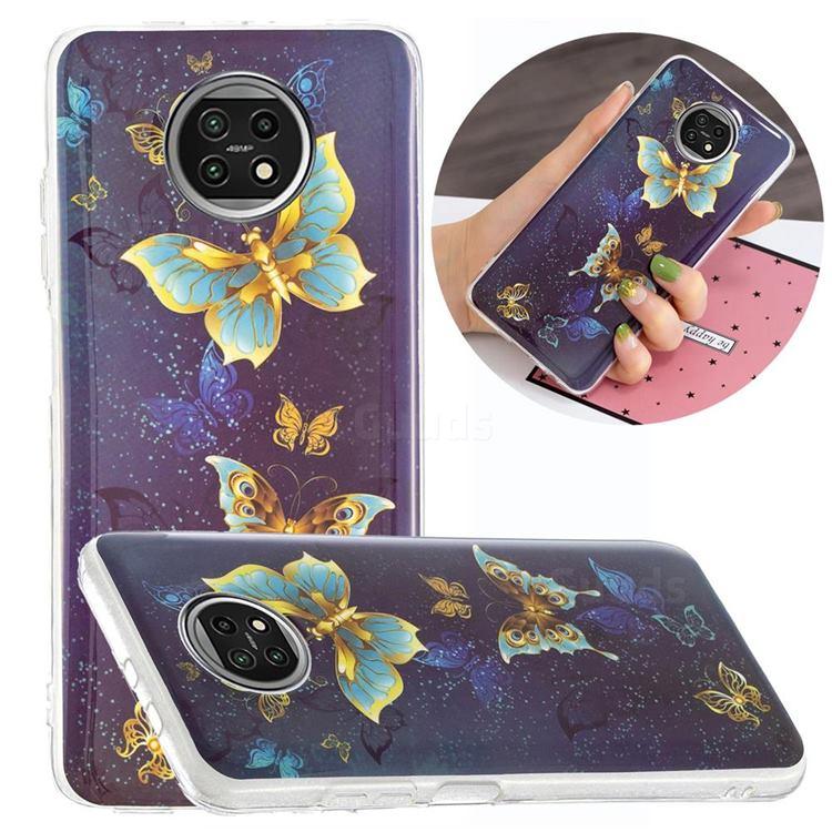 Golden Butterflies Noctilucent Soft TPU Back Cover for Xiaomi Redmi Note 9T