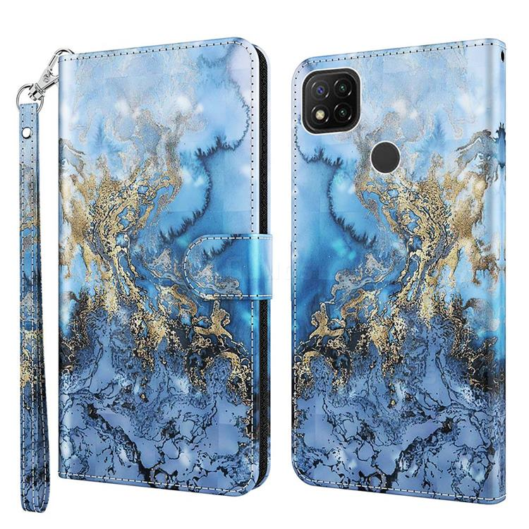 Milky Way Marble 3D Painted Leather Wallet Case for Mi Xiaomi Poco C3