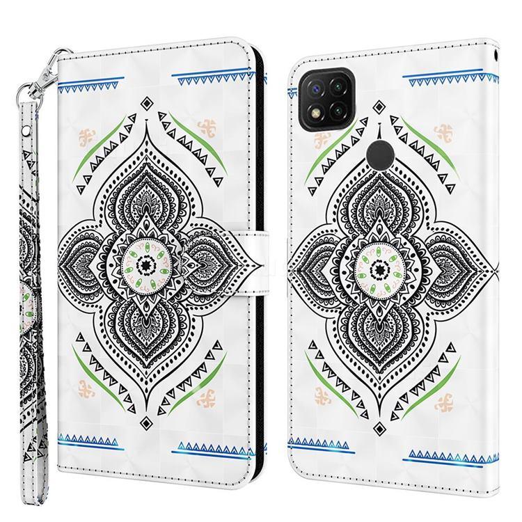 Mandala Totem 3D Painted Leather Wallet Case for Mi Xiaomi Poco C3