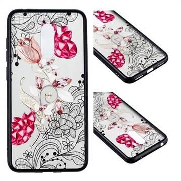Tulip Lace Diamond Flower Soft TPU Back Cover for Mi Xiaomi Pocophone F1