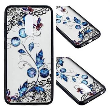 Butterfly Lace Diamond Flower Soft TPU Back Cover for Mi Xiaomi Pocophone F1
