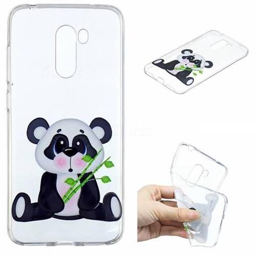 Bamboo Panda Clear Varnish Soft Phone Back Cover for Mi Xiaomi Pocophone F1