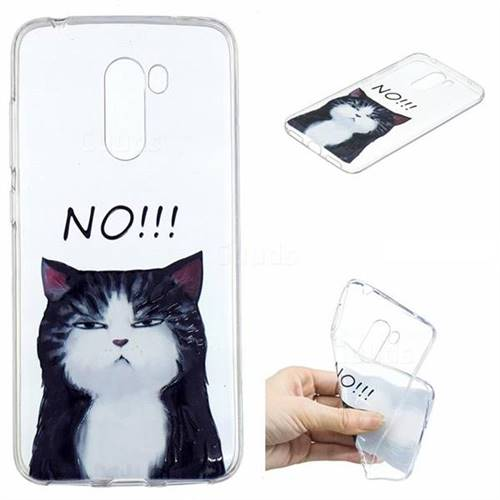 No Cat Clear Varnish Soft Phone Back Cover for Mi Xiaomi Pocophone F1