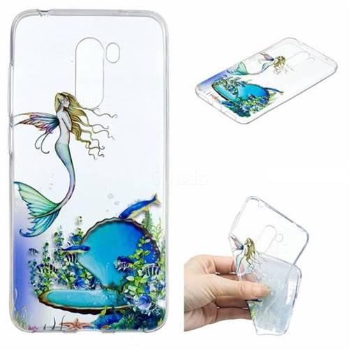 Mermaid Clear Varnish Soft Phone Back Cover for Mi Xiaomi Pocophone F1