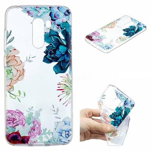 Gem Flower Clear Varnish Soft Phone Back Cover for Mi Xiaomi Pocophone F1