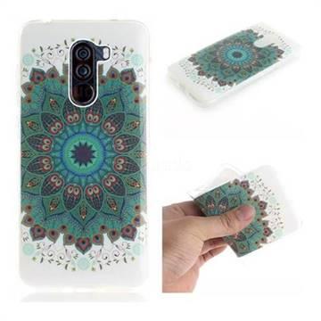 Peacock Mandala IMD Soft TPU Cell Phone Back Cover for Mi Xiaomi Pocophone F1